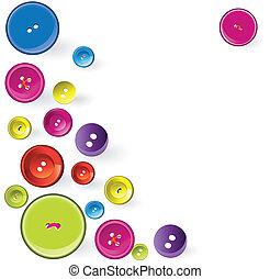 varrás, items., többszínű