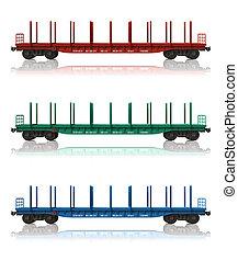 vasút, állhatatos, gondolák