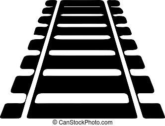 vasút, white háttér, ikon