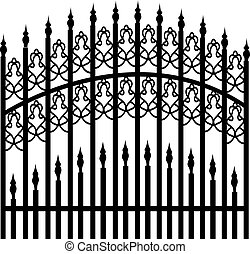 vas, kerítés