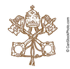 vatikán, dél, jelkép