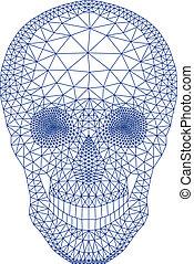 vecto, geometriai, koponya, motívum