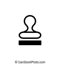 vector., bélyeg, jelkép, ábra, vektor, (sign), ikon