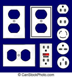 vectors, electrical kivezetés