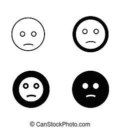 vektor, ábra, emoji, ikon