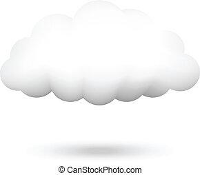 vektor, ábra, felhő