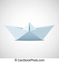vektor, ábra, háttér., dolgozat, fehér, ikon, csónakázik, részvény