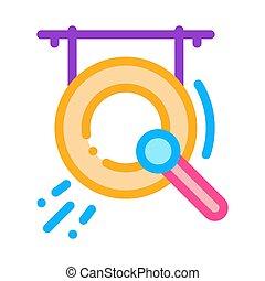 vektor, ábra, ikon, gong, áttekintés