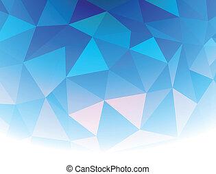 vektor, ábra, kék