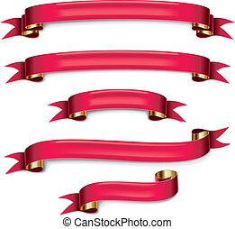 vektor, állhatatos, gyeplő, piros