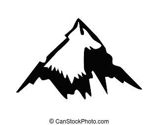 vektor, árnykép, hegy