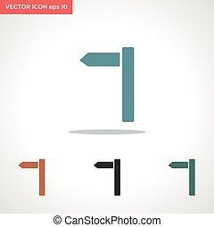 vektor, út, fehér, ikon, kereszt, elszigetelt, háttér