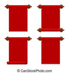 vektor, ősi, állhatatos, cikornyázik, háttér., dolgozat, white piros