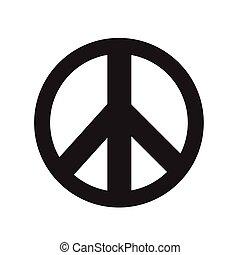 vektor, aláír, béke, ábra, ikon