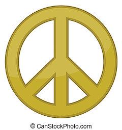 vektor, aláír, béke, arany, /
