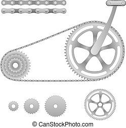 vektor, bicikli bekapcsol