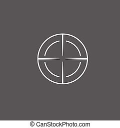 vektor, céltábla, ikon