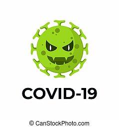 vektor, coronavirus, 2019-ncov, vírus, covid-19