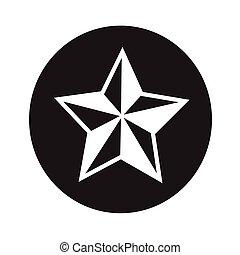 vektor, csillag, ábra, ikon