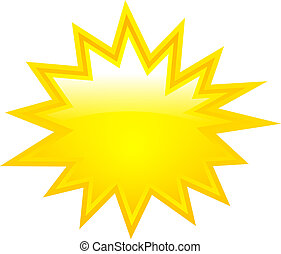 vektor, csillag, dörgés, sárga