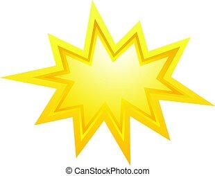 vektor, csillag, szétrepedés