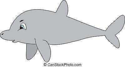 vektor, delfin