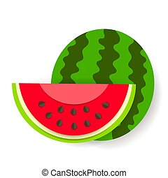 vektor, dolgozat, görögdinnye, háttér, fehér, ikon
