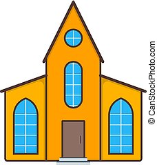 vektor, egyszerű, icon., épület, badge., fogalom, otthon, jel, jelkép, web., lakás, ábra