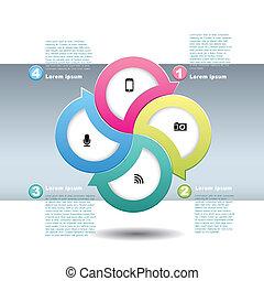 vektor, elvont, dolgozat, 3, infographics