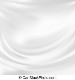 vektor, elvont, selyem, fehér, struktúra