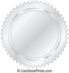 vektor, ezüst, ábra, fóka
