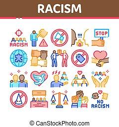 vektor, fajvédelem, gyűjtés, állhatatos, megkülönböztetés, ikonok
