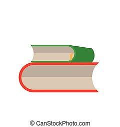 vektor, fehér, állhatatos, könyv, háttér