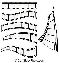 vektor, film, ábra, levetkőzik