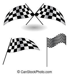 vektor, flags., állhatatos, illustration., tarka