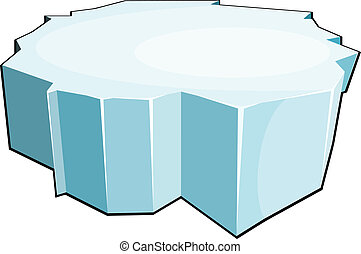 vektor, floe., izolál, jég, háttér., illustrati, fehér, karikatúra