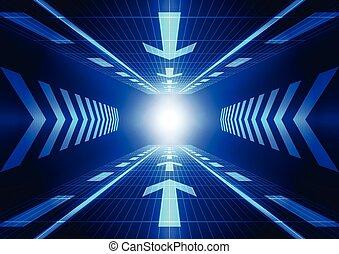 vektor, fogalom, elvont, ábra, háttér, jövő, technológia