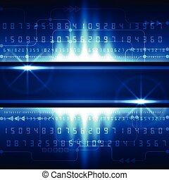vektor, fogalom, elvont, háttér, digitális, jövő, technológia