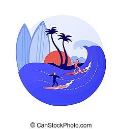 vektor, fogalom, szörfözás, metafora, izbogis