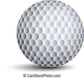 vektor, golf labda