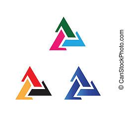 vektor, háromszög