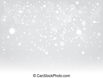 vektor, háttér., bokeh, eps10., hó