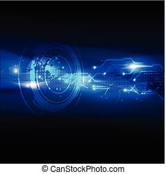 vektor, háttér, elvont, digital technology, futuristic, ábra