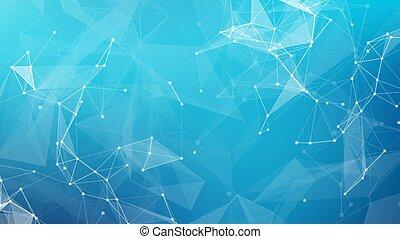 vektor, háttér., kék, tervezés, cripto, tudomány, összekapcsol, hálózat, orvosi, adatok, elvont, háló, blockchain