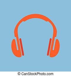 vektor, headphones., ikon