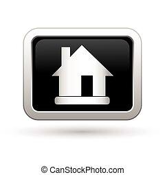 vektor, icon., ábra, épület
