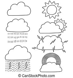vektor, időjárás, állhatatos