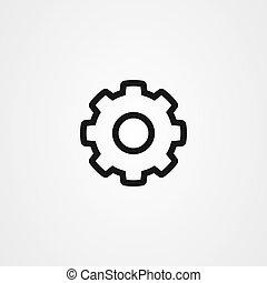 vektor, ikon, bekapcsol, jelkép., tervezés, beállítás