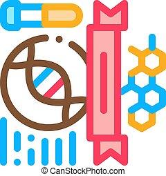 vektor, ikon, kémia, ábra, legyőz, áttekintés, fokozatokra osztás