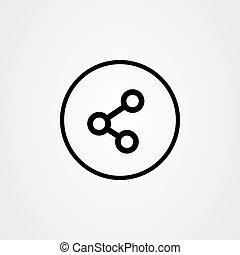 vektor, ikon, kiad, jelkép., rész, tervezés